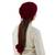 100% alpaca hat or neck warmer, 'Stylish in Red' - Red Alpaca Wool Hand Knitted Neck Warmer or Hat (image 2c) thumbail