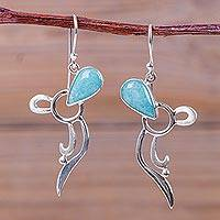 Amazonite dangle earrings,