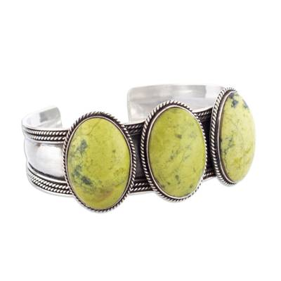 Handmade Sterling Silver and Agate Cuff Bracelet