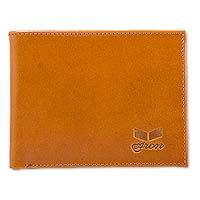 Men's sheep leather wallet, 'Classic in Tan' - Peruvian Hand Crafted Sheep Leather Wallet in Tan