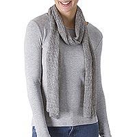 100% alpaca wool scarf,