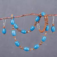 Ceramic jewelry set,
