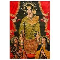 'Our Lady of Almudena' - Our Lady of Almudena Painting Religious Christian Art