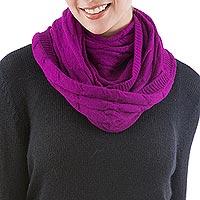 100% baby alpaca infinity scarf,