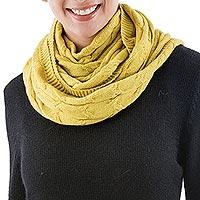 100% baby lpaca infinity scarf,
