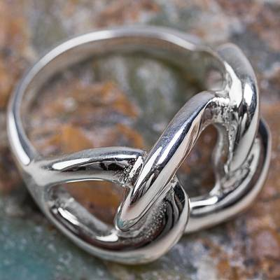 Hand Crafted Sterling Silver Band Ring from the Andes