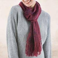 Alpaca blend scarf, 'Cherry Grape' - Warm Red Floral Jacquard Alpaca Blend Scarf