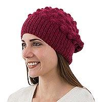 Alpaca blend wool hat,