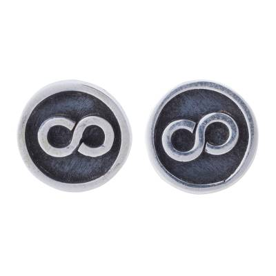 925 Sterling Silver Stud Earrings with Infinity Symbol