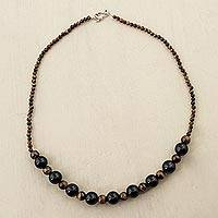Tigers eye and agate beaded necklace Liberty Shines (Peru)