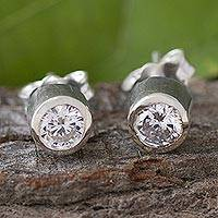 Cubic zirconia stud earrings,
