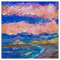 'Morning at Islands of Callao' - Original Impressionist Painting of Islands of Callao
