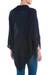 Knit poncho, 'Navy Reality Squared' - Navy Blue Poncho with Turtleneck from Peru (image 2c) thumbail