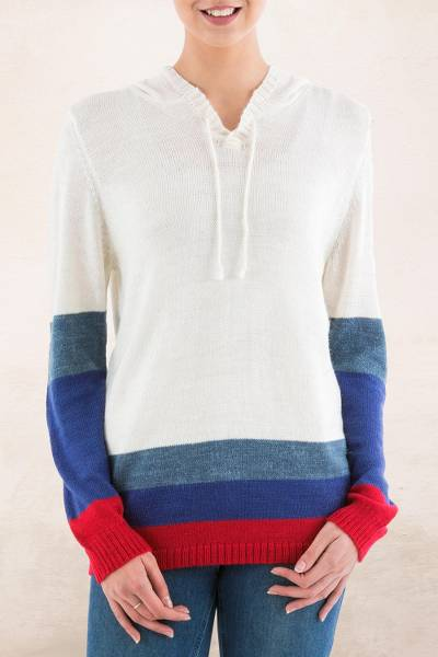 Hoodie sweater, Ivory Imagination