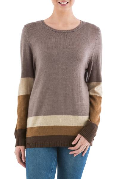 Pullover sweater, Imagine in Brown