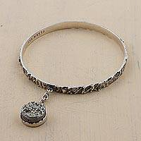 Pyrite bangle bracelet,