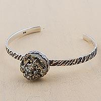 Pyrite cuff bracelet,