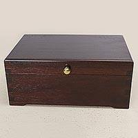 Recycled wood jewelry box, 'Victorian Treasure' - Hand Crafted Recycled Wood Jewelry Box from Peru