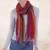 Baby alpaca blend scarf, 'Bohemian Rainbow' - Hand Woven Alpaca Blend Striped Multicolored Scarf from Peru thumbail