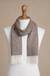Men's 100% baby alpaca scarf, 'Lovely Chestnut' - Men's Brown 100% Baby Alpaca Wool Scarf from Peru (image 2d) thumbail