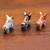 Ceramic figurines, 'Little Pucara Bulls' (set of 3) - Handcrafted Multicolor Set of Three Bull Figurines (image 2c) thumbail