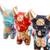 Ceramic figurines, 'Little Pucara Bulls' (set of 3) - Handcrafted Multicolor Set of Three Bull Figurines (image 2e) thumbail