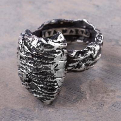 Tree Inspired 925 Sterling Silver Ring from Andean Jewelry