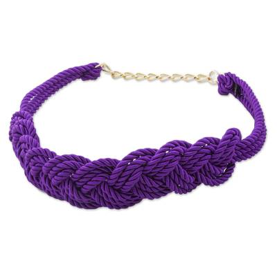 Hand Made Modern Rope Belt in Amethyst from Peru