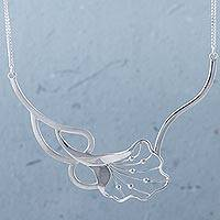 Sterling silver pendant necklace, 'Abstract Nature' - Sterling Silver Abstract Pendant Necklace from Peru