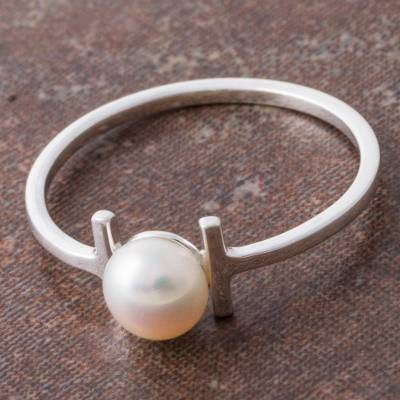 Cultured pearl cocktail ring, Innocent Attraction