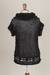 Alpaca blend tunic, 'Andean Rendezvous' - Black Openwork Tunic Top Knit in Soft Alpaca Blend (image 2f) thumbail
