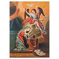 'The Annunciation' - Oil Painting of the Virgin Mary and the Annunciation