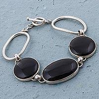 Obsidian link bracelet,