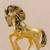 Bronze sculpture, 'Immortal Energy in Gold' - Antiqued Gold Tone Bronze Sculpture of a Horse from Peru (image 2c) thumbail
