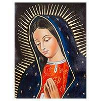 'The Virgin of Guadalupe' - Our Lady of Guadalupe Virgin Mary Portrait in Oils