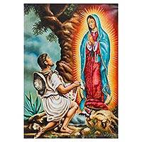 'Maria Guadalupe Appears' - Oil Painting of the Virgin of Guadalupe with Juan Diego