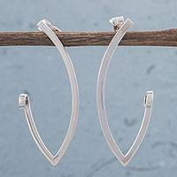 Sterling silver drop earrings, 'Perfection Curls' - 925 Sterling Silver Drop Earrings by Peruvian Artisans