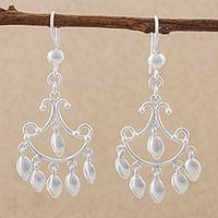 Sterling silver chandelier earrings, 'Elegant Ball' - Sterling Silver Chandelier Earrings by Peruvian Artisans