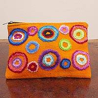 Wool cosmetic bag,