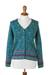 100% alpaca cardigan, 'Spirit of the Andes' - Soft Alpaca Button Up Cardigan Sweater from Peru (image 2a) thumbail