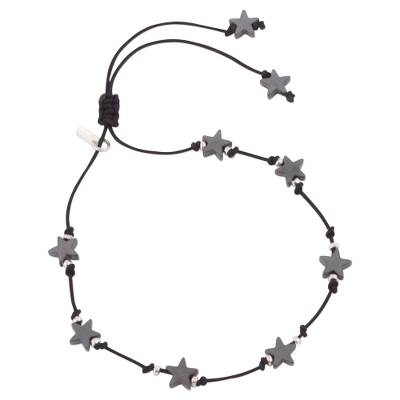 Andean Hematite Star Bracelet with Sterling Silver Accents
