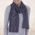Alpaca blend scarf, 'Mountain Scent in Grey' - Alpaca Blend Scarf in Dolphin Grey and Slate from Peru thumbail