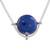 Lapis lazuli pendant necklace, 'Essence of Time' - Peruvian Sterling Silver Pendant Necklace with Lapis Lazuli (image 2d) thumbail