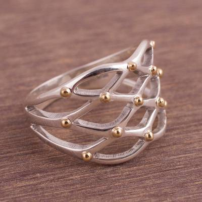 rings of elysium reddit - Gold Accent Sterling Silver Cocktail Ring from Peru