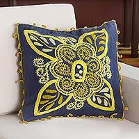Wool blend cushion cover Verdant Mystery Peru