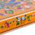 Reverse painted glass decorative box, 'Dragonfly World in Tangerine' - Andean Reverse Painted Glass Dragonfly Box in Tangerine (image 2e) thumbail