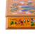Reverse painted glass decorative box, 'Dragonfly World in Tangerine' - Andean Reverse Painted Glass Dragonfly Box in Tangerine (image 2h) thumbail