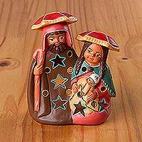 Ceramic decorative accent, 'Cuzco Nativity' - Painted Andean Ceramic Nativity Decorative Accent from Peru