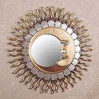 Featured review for Wood wall mirror, Cuzco Eclipse