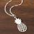 Sterling silver pendant necklace, 'Exotic Pineapple' - Sterling Silver Pineapple Pendant Necklace from Peru (image 2b) thumbail